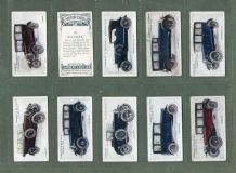 Cigarette cards set Motor cars Bentley, Bugatti, Buick,Austin,Humber, etc